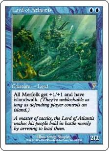 *FOIL* Lord of Atlantis JSS promo card MTG